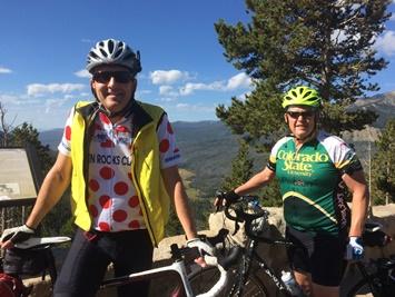 Zach Johnson and Ed Peyronnin on Rainbow Curve, Rocky Mountain National Park
